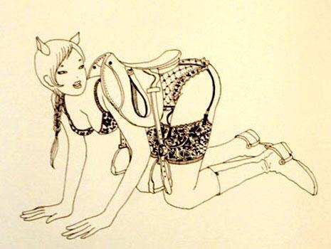 Rue Bricabrac, bdsm, ponygirl