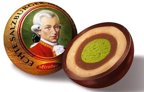 Rue Bricabrac, chocolat, Mozart, Mozartkugel