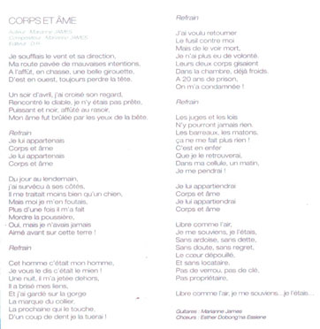 Rue Bricabrac, bdsm, Marianne James, Corps et âme